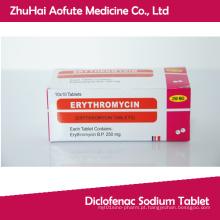 Comprimido de eritromicina