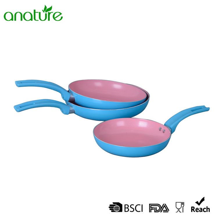 Pressed Pink Non Stick Heat Resistant Fry Pan