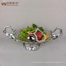 Resin fruit bowl with elephant statues for home decoration
