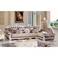Coffee Color French Sofa, Royal Sofa, Fabric Sofa, Europe Sofa (A865)