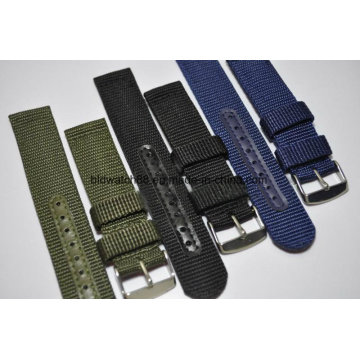 Qualidade Infantaria Militar Impermeável Nylon Watch Band Strap