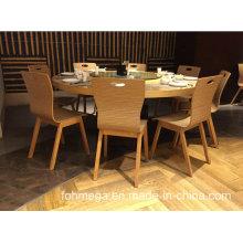 Table à manger Restuarant en bois moderne et 8 chaises