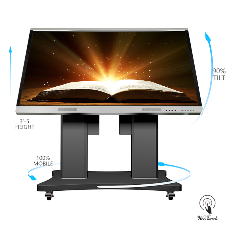 86 Flat Touch Display Cheap With Automatic Stand