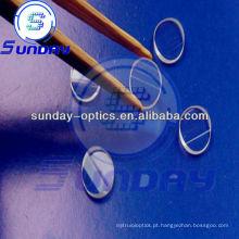 Lente de linha de laser, vidro k9, dia.6x2.0mm, 45 graus