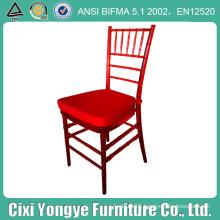Crystal Red Resin Chaivari Chair for Weddings