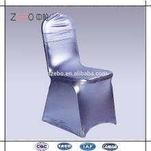 Mais novo estilo prata spandex cadeira cobrir esticar poliéster casamento cadeira capas