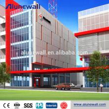 Bardage de façade de bâtiment 6mm d'épaisseur en aluminium composite panneau de revêtement prix