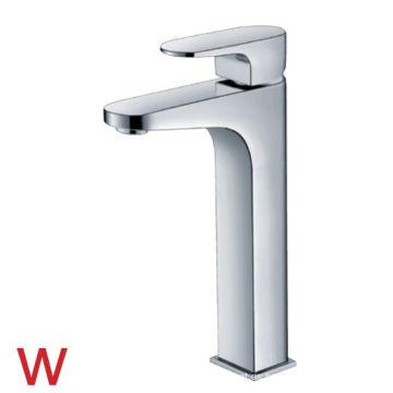 Grifo de agua de cobre amarillo del lavabo del cuarto de baño de las mercancías sanitarias de la marca de agua (HD4800)