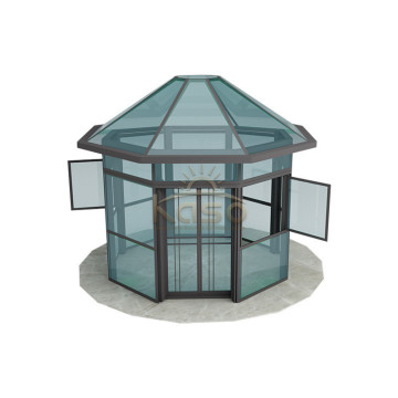 Aluminium Sunroom Kit Wood Glass House Prefab House