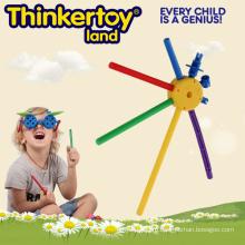 Красочные DIY Учебные строительные блоки игрушки для 3-6 детей