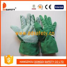 Gants de jardinage en coton avec des points de PVC sur Palm Dgb110