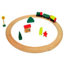 Wooden Toy Train Rail (19PCS) with En71 Certificate