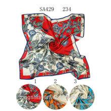 SA429 234 crepe satin plain 100% silk hijab shawl and scarvessupplier alibaba china