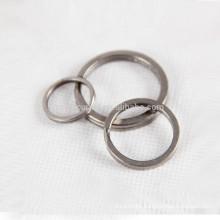 3pcs titanium keychain granite-wash process personal accessory key rings