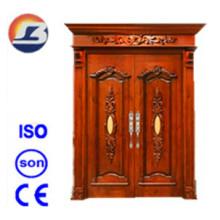 Extérieur de haute qualité élégante porte en bois massif Meranti