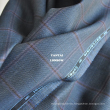 Plaid Italian worsted fabric for bespoke suit made in China