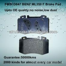 D847 OE QUALITÄT niedrige Metall-Auto-Scheibenbremsbeläge für BENZ ML / CL