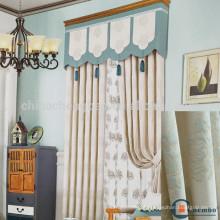 Tipo moderno de janela de escritório cortina de algodão