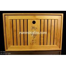 Tabela de chá de bambu tamanho médio-35 * 22.5 * 7cm
