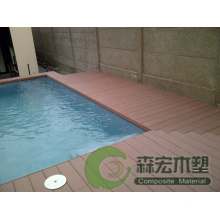 WPC Decking Plastic Wood Decking Wood Plastic Composite Decking Outdoor Flooring for Swimming Pool (H023147-B)