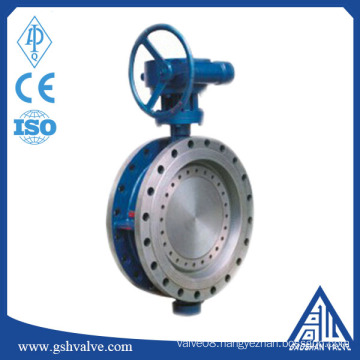 China supply three-dimensional eccentricity hard sealing butterfly valve