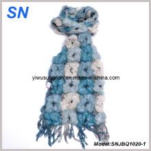 Fashion Multi-Toned Skinny Stripe Checked Winter Warm Ruffle Bubble Scarves