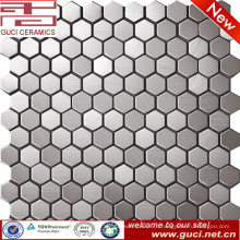 Малый гексагональной смешивается нержавеющей стали мозаика плитка для стены кухни