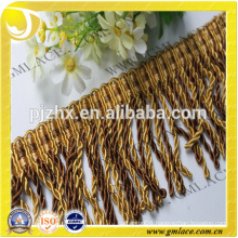 yellow bullion Fringe for dresses and home decoration