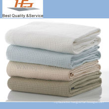 superior quality cotton soft hospital waffle blanket