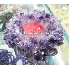 Producto más nuevo / Amethyst / púrpura cristal Candlestick / cristal Candlestick / Lotus forma cristal Candelabro