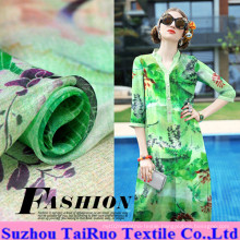 5.5mm Reactive Printed Silk Charmeuse for Garment Fabric