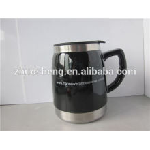 2015 best sales product BPA free customized double wall ceramic printing mug for promotion without handle