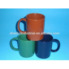 11oz colored glazed ceramic mug
