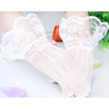 Hochzeitsart und weise fishnet Spitze appliques Brauthochzeitspitzehandschuhe