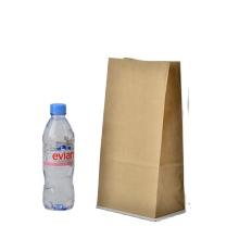 Oil proof good quality custom logo kraft paper bag brown for restaurant shopping