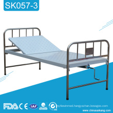 SK057-3 Medical Hospital Stainless Steel Single Crank Manual Bed