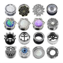 Double Flare Flesh Ear Tunnels Plugs