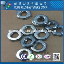 Hecho en Taiwán DIN439 Acero al carbono C1008 Zinc plateado Cr6 + 5um Min Cabeza Marcado T1 O4 B Hex Thin Nut