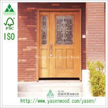 Luxury Exterior Unequal Double Entrance Doors