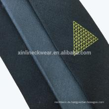 100% Handarbeit perfekte Knoten Jacquard gewebte Seide Mischung Männer Krawatte schlank