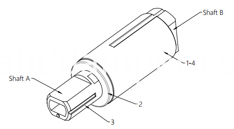 Rotary Damper Drawing For Toilet Seat Cover