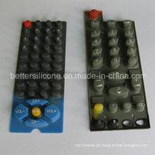Elastômero elástico de seda de tela Silicone Borracha Switches