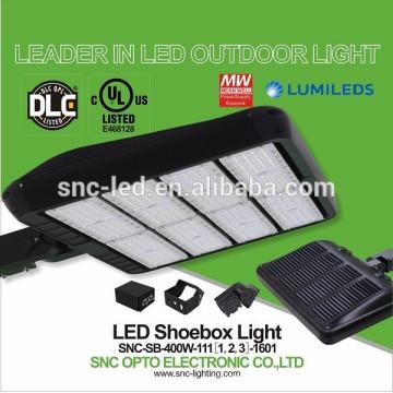La plus chaude lampe de lots de stationnement de LED 2016 400w, lumière extérieure de Shoebox de LED, cadre de Shoebox de DLC LED