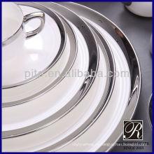 PITO vajilla de porcelana plata blanca