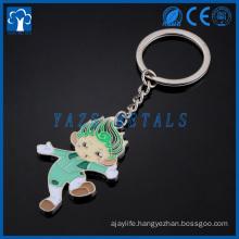 custom Enamel keychain made of zinc alloy for sale