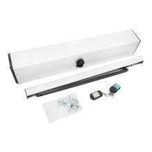 silver color single electric swing door opener for wood or frame glass door