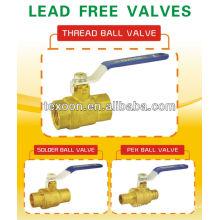 new body lead free forged brass female npt ball valves with CSA UL FM NSF61 AB1953 CUPC