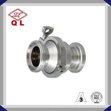 DIN Нержавеющая сталь Санитарный природный газ и медицинский без возврата Быстрозажимной обратный клапан 6 дюймов