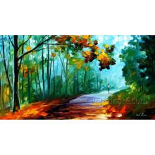 Pintura al óleo del paisaje del cuchillo en lona