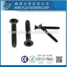 Taiwan 6-Lobe Flat Head Black Phosphate et finition d'huile Type F Point Thread Cutting Floorboard Screw